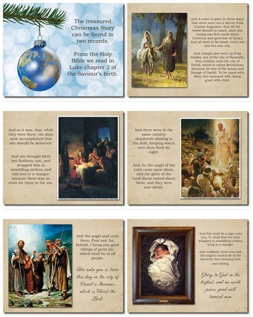 Christmas story  - could we print and laminate this to go with our reading on Christmas Day?