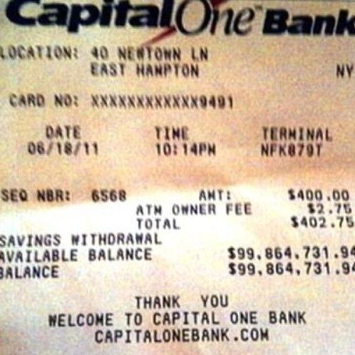 What A $100 Million Bank Account Balance Looks Like ...Sweet!