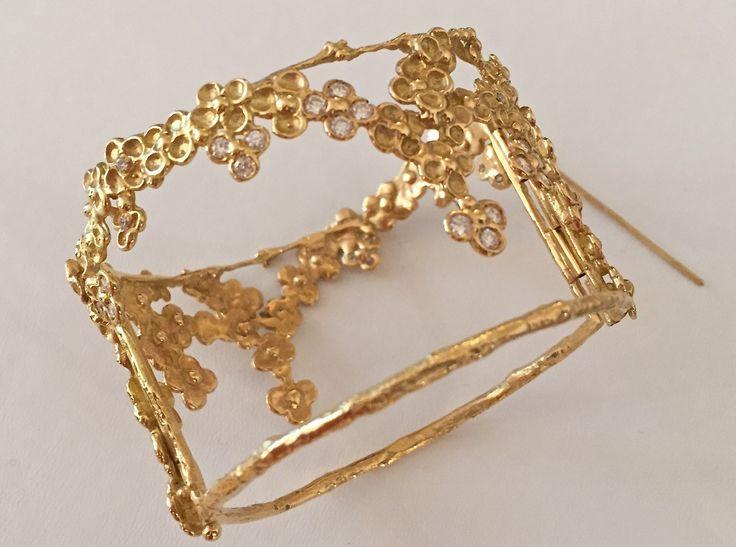 Bracelet Manchette Or, Diamants © Anaïs Reiner