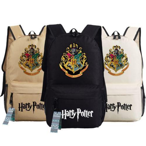 New-Harry-Potter-Hogwarts-School-Badge-Schoolbag-Backpack-Book-Bag-Multi-Color