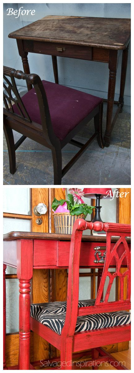 Salvaged Inspirations | Writing Desk Before & After: