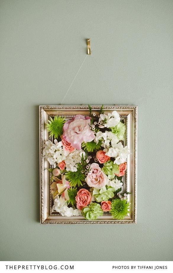 Maybe instead of that large white frame of flowers, something this size or  a little