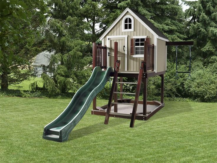 amish treehouse loft backyard play set amish playhouses amish outdoor structures