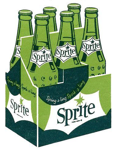 Sprite Matchbook Art, 1960's