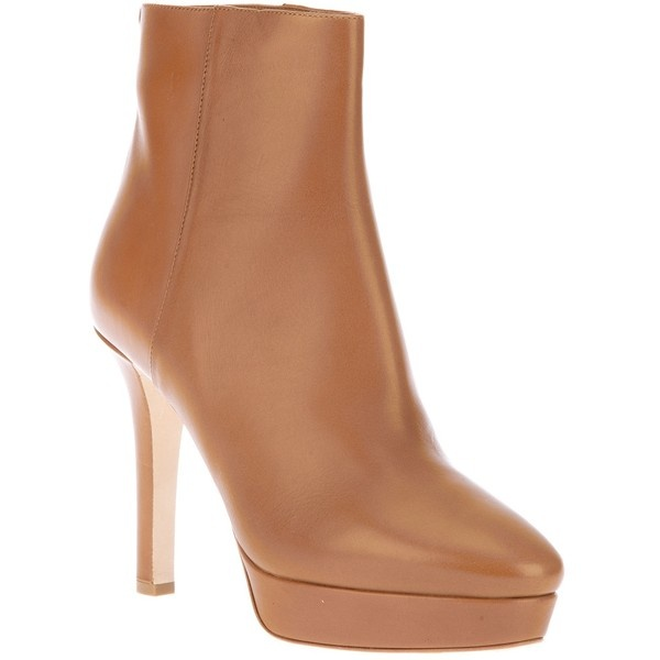 JIMMY CHOO Platform ankle boot ($1,130) ❤ liked on Polyvore