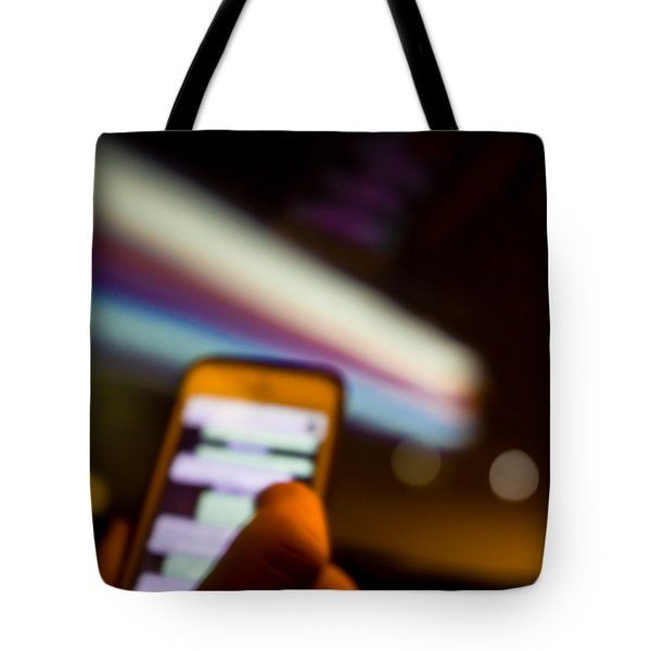 Will Be At Home In 5 Minutes Tote Bag by Cesare Bargiggia