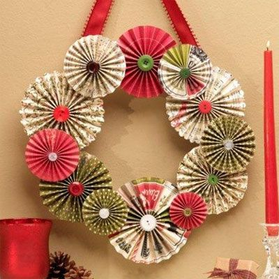 78 best chaos paper wreaths images on pinterest for How to make a spring wreath from scratch
