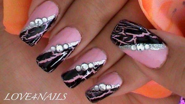 Crackle Nail Polish by LOVE4NAILS - Nail Art Gallery nailartgallery.nailsmag.com by Nails Magazine www.nailsmag.com #nailart