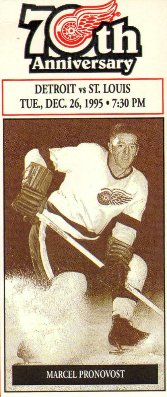 Joseph Rene Marcel Pronovost (born June 15, #1930, Lac-a-la-Tortue, Canada) is a Canadian former professional ice hockey defenceman and coach. He played in 1,206 games for the Detroit Red Wings and Toronto Maple Leafs bet 1950 & 1970. A top defenceman, Pronovost was named to four post-season NHL All-Star Teams. He was a member of 4 Stanley Cup championships with the Red Wings, the first in 1950, and won a fifth title with the Maple Leafs in 1967. Inducted into the Hockey Hall of Fame in…
