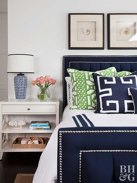 Give a boring piece of furniture a little personality by adding nailhead trim.