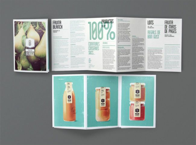 Fruita Blanch   Packaging of the World: Creative Package Design Archive and Gallery: Layout Design, Graphicdesign, Graphics Design, Branding, Travel Tips, Fruita Blanche, Behance Network, Leaflets, Brochures Design