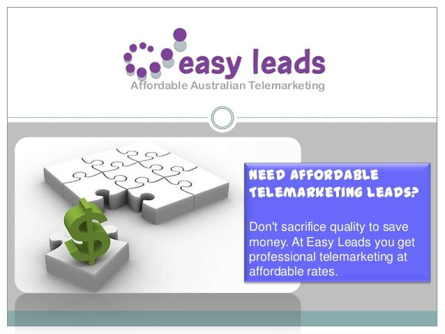Easy leads is a leading Australian provider of affordable telemarketing and lead era answers for customers Australia wide.