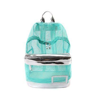 New Fashion See Through Mesh Backpack Rucksack Campus School Book Bag Women Girl