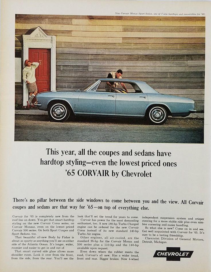 1965 Chevrolet Corvair Monza Sport Sedan Vintage Ad