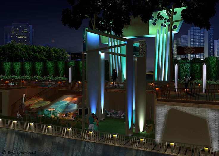 """Nile Cafe Project """"Arab Plaza"""", Giza Nile Elevation"""