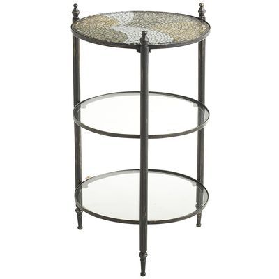 A Nice Idea For A Night Stand, I Need Small Ones: Anamati Mosaic Glass   3  Tier Table, From Pier 1