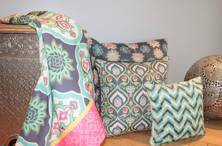 Mirá imágenes de diseños de Dormitorios estilo asiático}: Almohadones y mantel . Encontrá las mejores fotos para inspirarte y creá tu hogar perfecto.