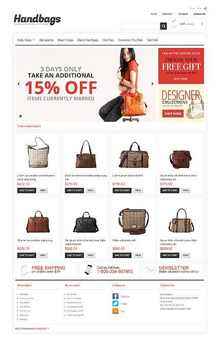 Handbags Boutique PrestaShop Themes by Hermes
