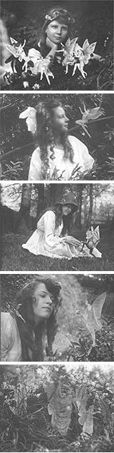 "PAST - The Cottingley Fairies  One of the most famous hoaxes in the history of paranormal photography, the ""Cottingley Fairies"" appeared in a series of photographs taken by Elsie Wright (1901-1988) and Frances Griffith (1907-1986) beginning in 1917. (Paranormal Encyclopedia)"