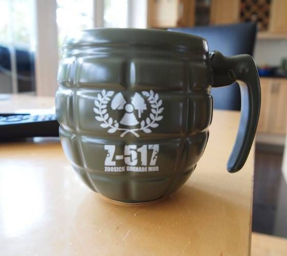 Ever feel like you will just explode if you don't get your morning cuppa? Our Grenade Mug is a hilarious novelty gift for men.