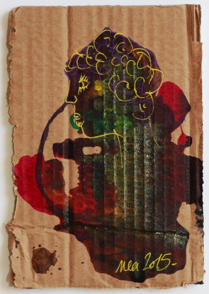 Dessin Peinture Tableau Carton ZEUS Nea Borgel PopArt Brut Singulier Mythologie