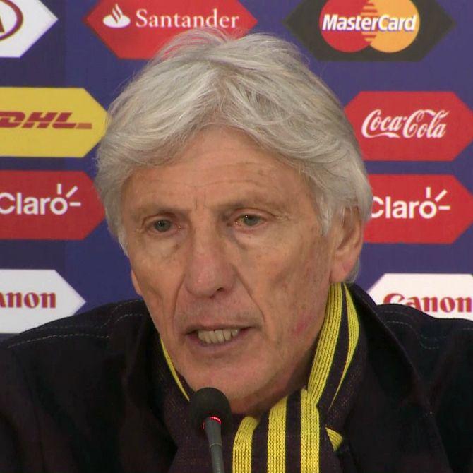 Rueda de prensa José Pékerman Colombia 0 (4) Argentina 0 (5).  #ColSelection #JosePekerman #CopaAmerica #Colombia