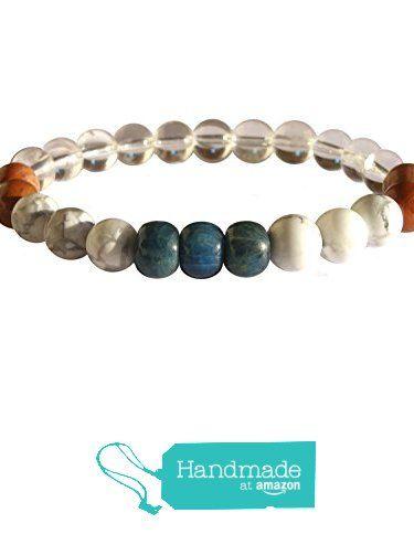 "ZENstore Weight Loss Healing Bracelet Natural Gemstones size 0.3"" 8mm Apatite Red Jasper Magnesite Clear Quartz Support Discipline Balance Metabolism from ZENstore https://www.amazon.com/dp/B071JDZBRY/ref=hnd_sw_r_pi_dp_kkrozbD34R8HE     #handmadeatamazon #gemstone  #Zenstore #chakra #gemstonebracelet #jewelry #fashion"
