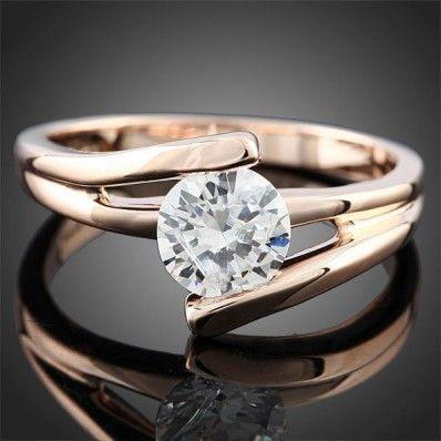 Μονόπετρο 18Κ δεμένο με Διαμάντι χρυσό ΔΑ012