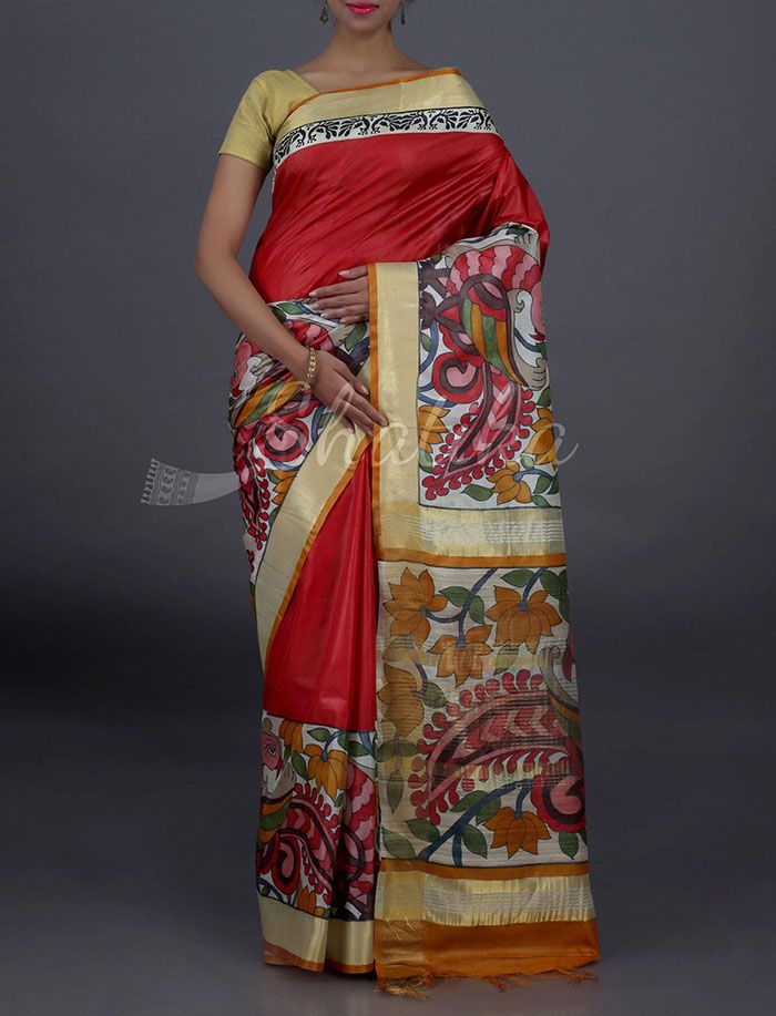 Babita Festive Bloom Border Pallu Pure #KosaSilkSaree