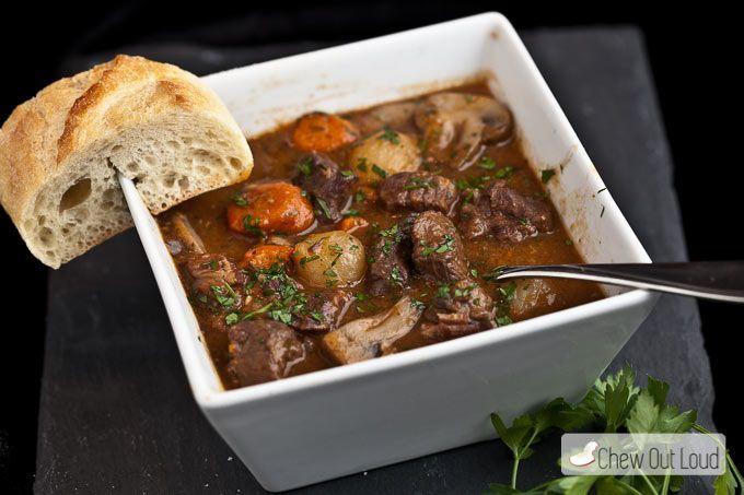 Boeuf Bourguignon French beef stew