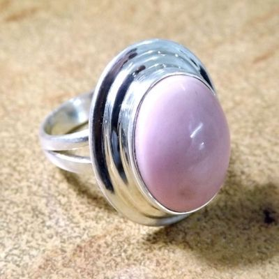 Pink Opal Ring, Pink Ring, Stone Ring, Gemstone Ring, Opal Ring, Handmade Ring, Statement Ring