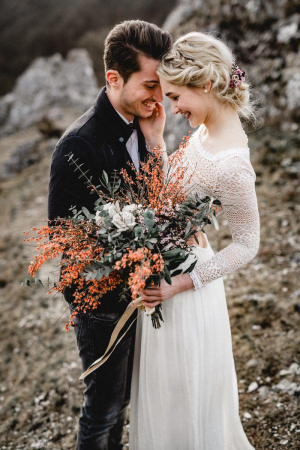 Ethereal Mountain Elopement Inspiration at Eselsburger Tal | Junebug Weddings