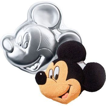 Mickey Mouse Cake Pan- this can be made and then placed on top of a sheet cake depending on how much cake is needed