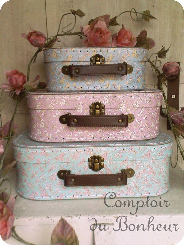 Valisettes Urne mariage rustique ou shabby boutiquebonheur.canalblog.com
