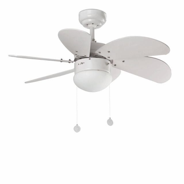 Ventilador de techo pequeño blanco #ventiladores #decoracion #verano #climatizacion #calor #ventilacion #diseño #aire