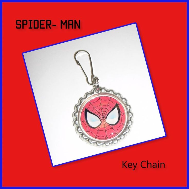 Spder-Man Bottle Cap Key Chain