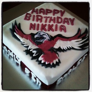 Manly sea eagles cake - Love it! maxum.com.au