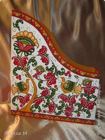 Декор предметов День рождения Роспись Журнальница Борецкая роспись Дерево Краска фото 1