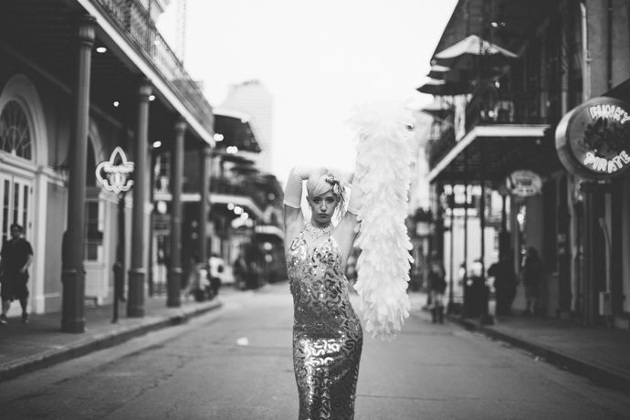 { New Orleans Burlesque Dancer Bella Blue   Image by Stephen LaMarche } Kendrick has a huge, huge thing for New Orleans, and looked like he was going to cry when I explained to him that adding a stop