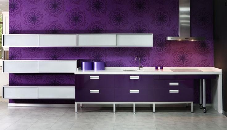 nog een paarse keuken