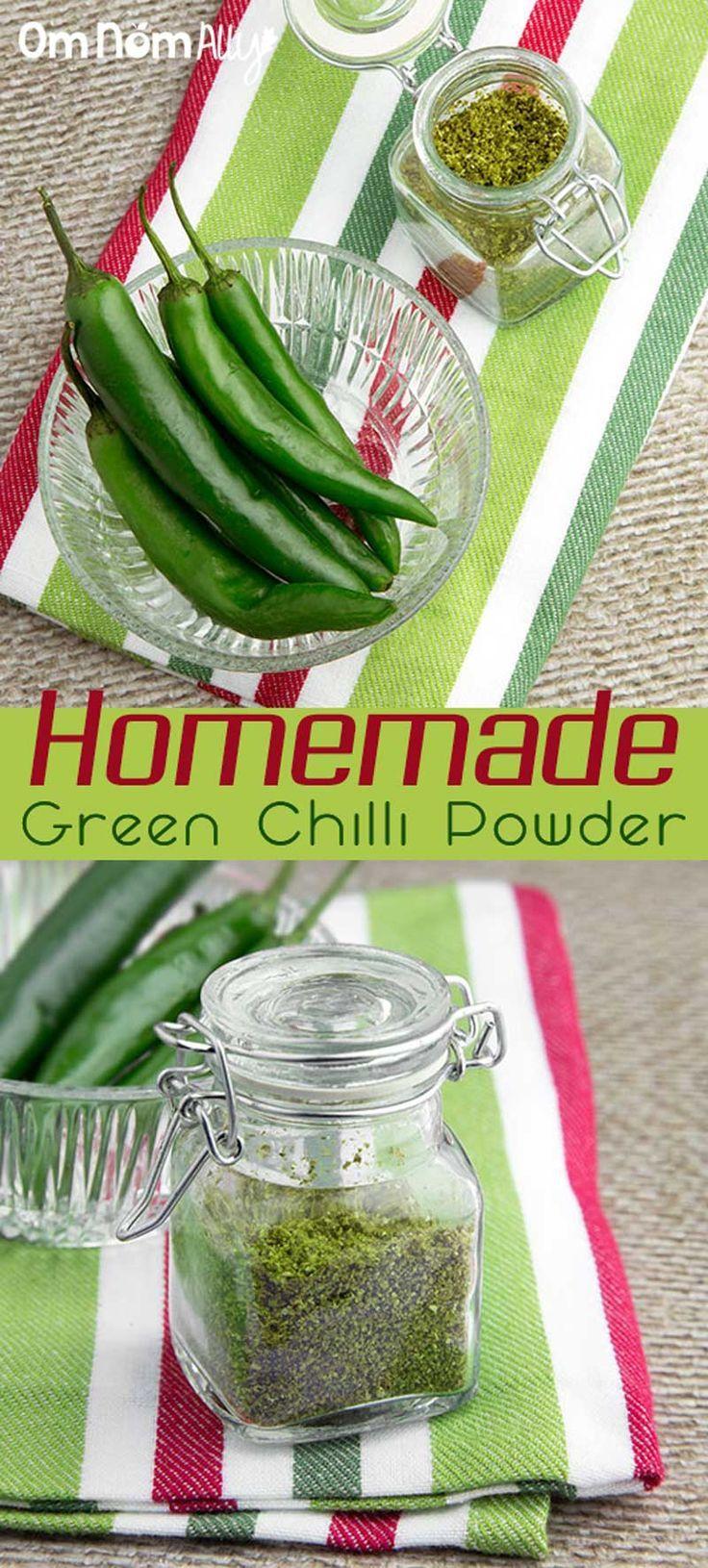 Homemade Green Chilli Powder @OmNomAlly