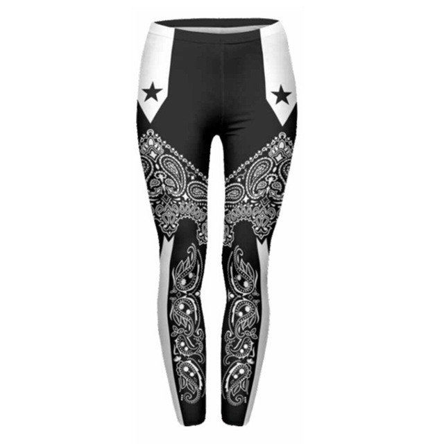 Women's Bandana Stars Leggings/One Size