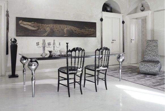 Dining room Cattelan Italia crocodile grey modern Italy