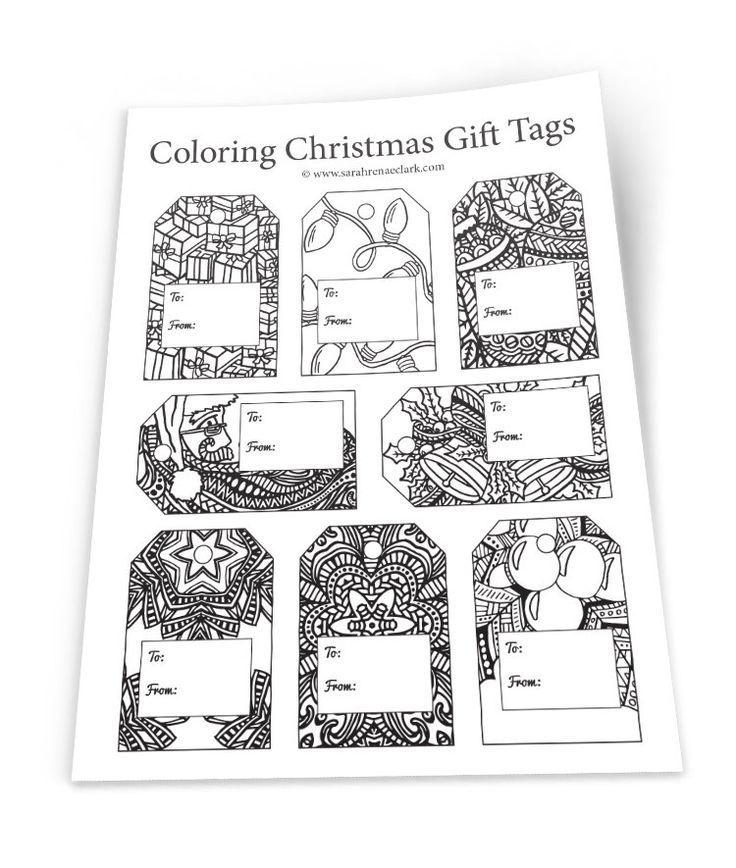 DIY Christmas Gift Tags 8 gift tags in this printable