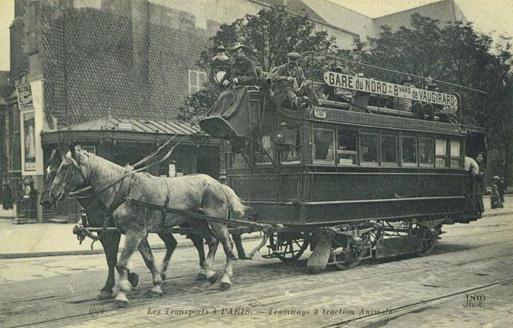 Les anciennes rues de Paris   Les moyens de transport à Paris