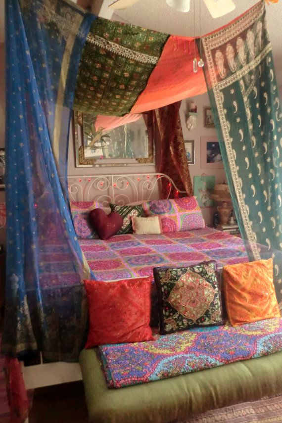 Bohemian Gypsy BED CANOPY by BabylonSisters on Etsy | Home ...