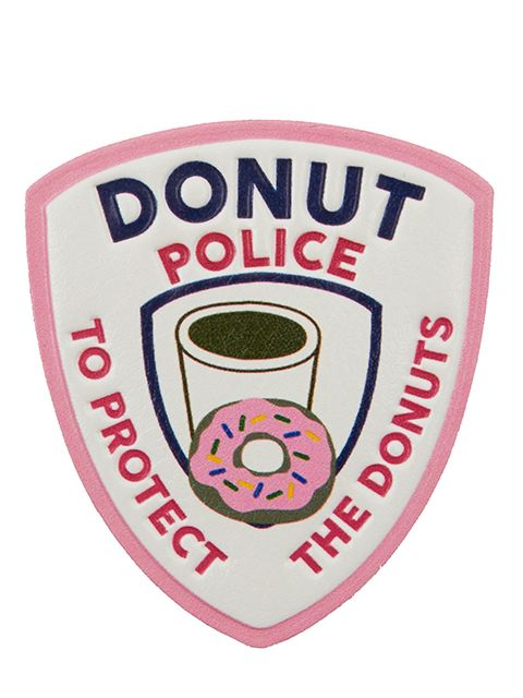 Donut police plushie sticker from skinnydip london