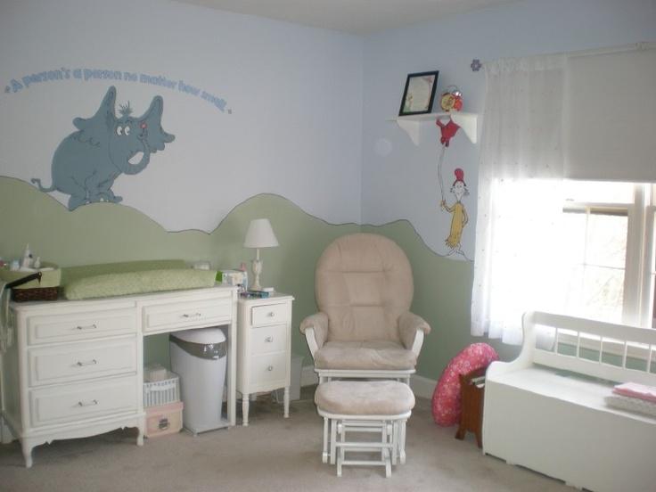 Dr. Seuss nursery is definitely cute: Cute Ideas, Seuss Nurseries, Suess Nurseries, Baby Rooms, Dr. Seuss, Girls Nurseries, Nurseries Ideas, Dr. Suess, Baby Nurseries