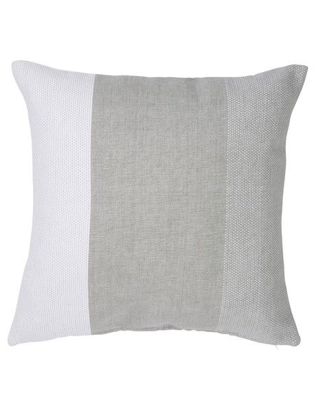 Add a sophisticated touch to your living area with this band cushion from the Haven Gallery range.