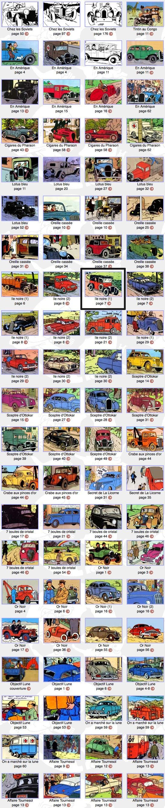 "Vintage Automobiles in the ""Adventures of Tintin"""